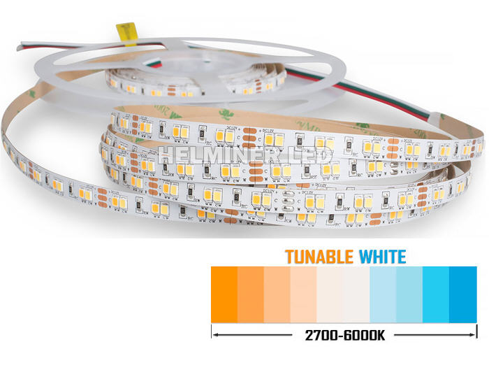 CCT 2835 12V 5M Flexible LED Strip Lighting - 120LED/M