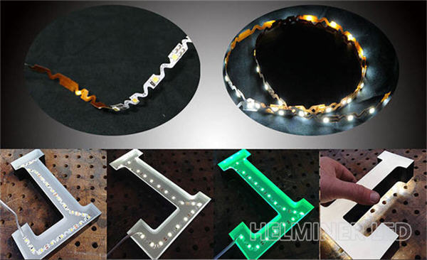 Bendable S Shape LED Strip Light for Sign